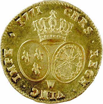 Louis XV, double louis d'or à la vieille tête, 1771 Lille