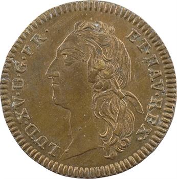 Louis XV, sacre à Reims le 25 octobre 1722, laiton, après 1740, Nuremberg