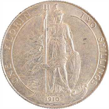 Royaume-Uni, Edouard VII, florin, 1910 Londres