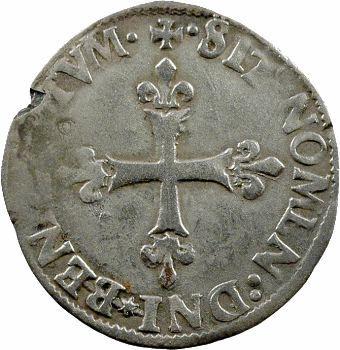 Charles IX, douzain à la croix fleurdelisée, 1572 Paris