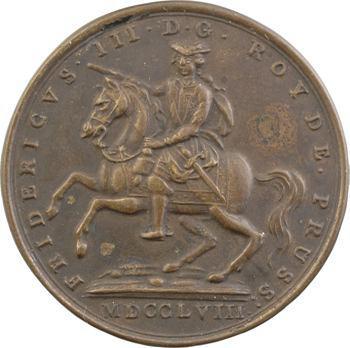 Allemagne, Prusse, Frédéric III, devise de la cavalerie, 1758