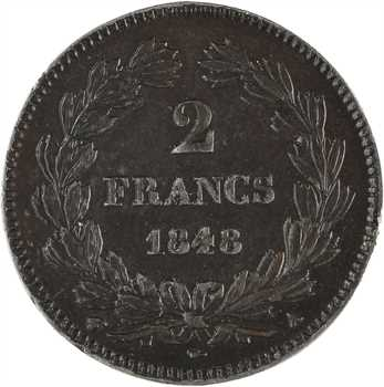 IIe République, concours hybride, piéfort de 2 francs par Gayrard, 1848 Paris