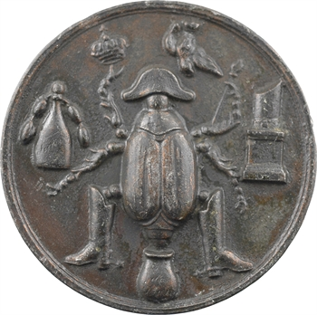 IIe République, médaille satirique au hanneton (Honneur au courage malheureux), 1850 Paris