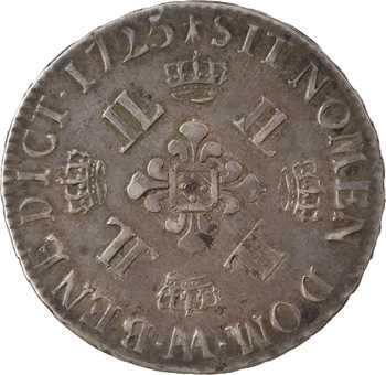 Louis XV, demi-écu aux huit L, 1725 Metz