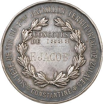 Algérie, Constantine, concours de tir des zouaves, 1888