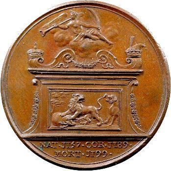 Angleterre, série des Rois par Jean Dassier, Richard Ier, s.d. (c.1731-1732)