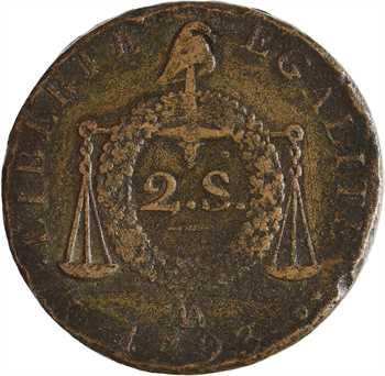 Convention, deux sols aux balances, 1793 Metz