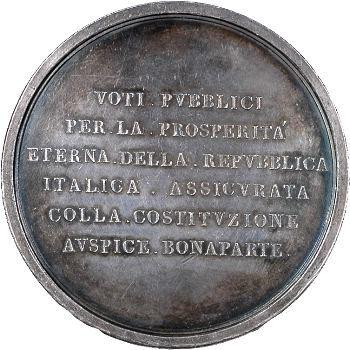 Consulat, Constitution de la République Cisalpine, An X (1802) Milan