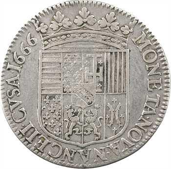 Lorraine (duché de), Charles IV, teston, 1666 Nancy