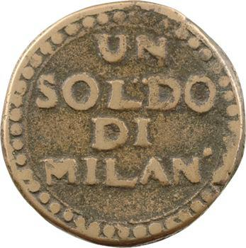 Italie, Mantoue (second siège), 1 soldo, An VII Milan