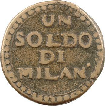 Italie, Mantoue (second siège), 1 soldo, An VII Milan