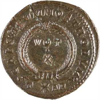 Crispus, nummus, Arles, 3e officine, 322-323