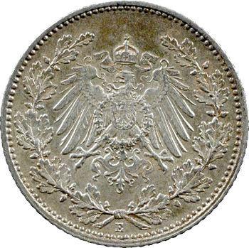 Allemagne (Empire d'), 1/2 mark, 1915 Dresde