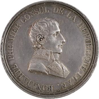 Consulat, Napoléon Bonaparte, paix de Lunéville, par Andrieu, An IX (1801) Paris