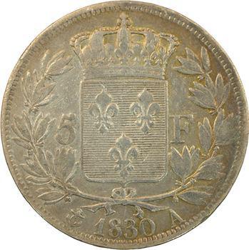 Charles X, 5 francs tranche en relief, 1830 Paris