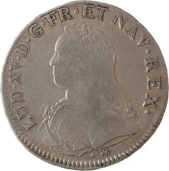 IIIe République, écu Louis XV aux rameaux d'olivier transformé en médaille de mariage, 1730/1882 [La Rochelle]