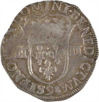 Henri IV, quart d'écu, croix feuillue de face, 1605 Rennes