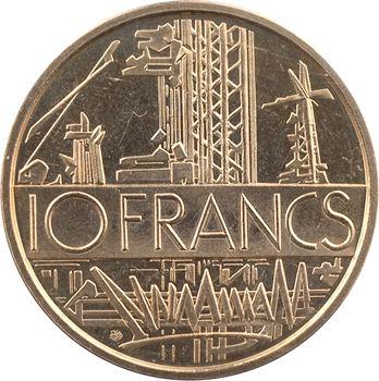 Ve République, piéfort de 10 francs Mathieu, 1974 Pessac