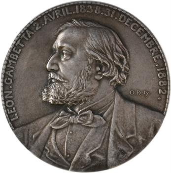 Roty (L.-O.) : décès de Léon Gambetta, 1882 Paris