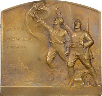 Première Guerre Mondiale, la Lorraine aux États-Unis, par Finot, 1919 Paris