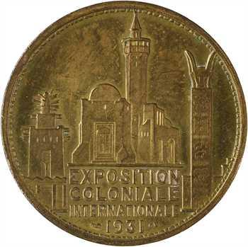 Exposition coloniale de Paris 1931, série des médailles des continents, l'Afrique par Desvignes