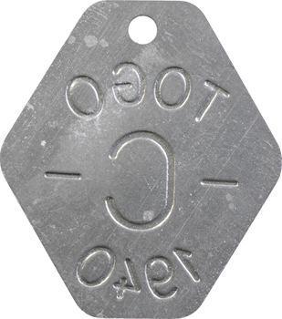 Togo, plaque de taxe, C, 1940