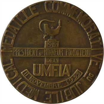 IIIe République, Clémenceau et le jubilé médical de l'UMFIA, par Villandre, 1933 Paris (Canale)