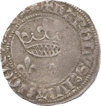 Charles VII, petit blanc aux lis accotés, Lyon