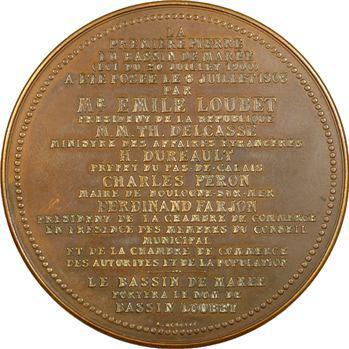 IIIe République, pose de la première pierre du bassin de marée de Boulogne-sur-Mer, 1903 Paris