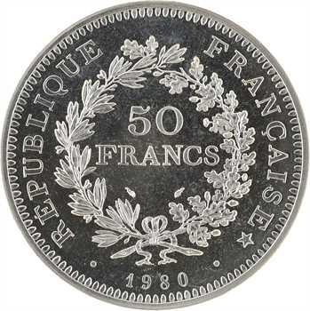 Ve République, 50 francs Hercule, 1980 Pessac