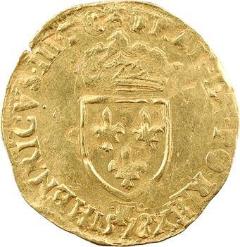 Henri III, écu d'or au soleil 3e type, 1578 Angers