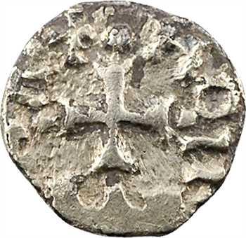Neustrie/Aquitaine, triens indéterminé à la tête de face, c.650