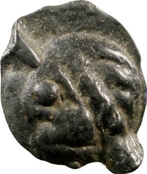 Leuques, potin à la tête d'indien et au sanglier, c.Ier s. av. J.-C.