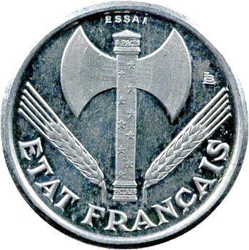 État Français, essai-piéfort de 50 centimes francisque, 1942 Paris