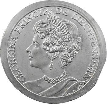 Liechtenstein, épreuve uniface à l'effigie de Georgina, s.d