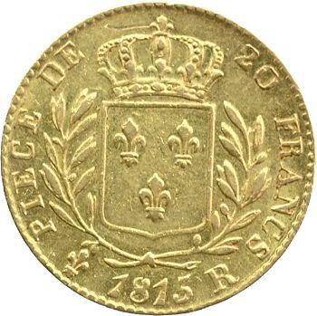 Louis XVIII, 20 francs buste habillé, 1815 Londres