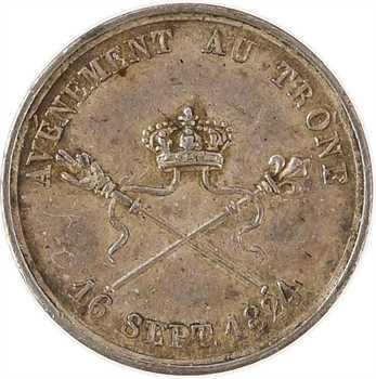 Charles X, avénement au trône, par Depaulis, 1824