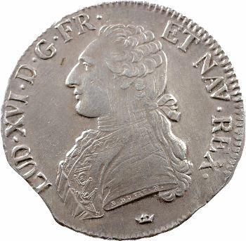 Louis XVI, écu aux rameaux d'olivier, 1788 Toulouse