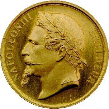 Napoléon III, médaille or, M. Dionis du Séjour, 1863