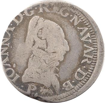 Béarn (seigneurie de), Jeanne d'Albret, teston, 1569 Pau