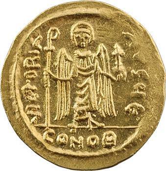 Phocas, solidus, Constantinople, 5e officine, 607-610