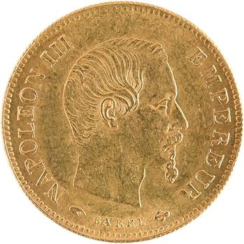 Second Empire, 10 francs tête nue, grand module, 1857 Paris