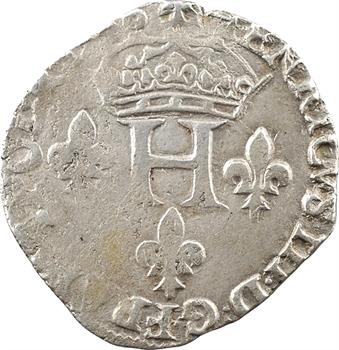 Henri III, double sol parisis, 2e type, 1586 Bayonne