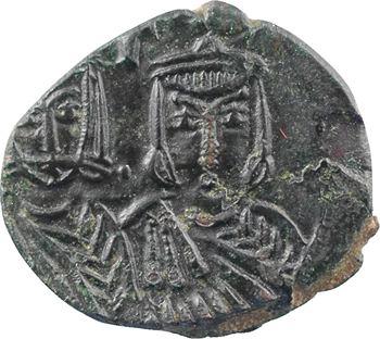 Léon V et Constantin, follis, Syracuse, 813-820