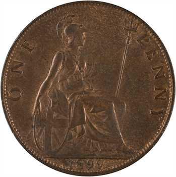 Royaume-Uni, Victoria, penny, 1899 Londres