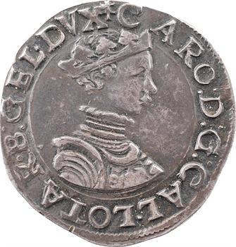 Lorraine (duché de), Charles III, teston au buste juvénile, s.d. (1564-1574) Nancy