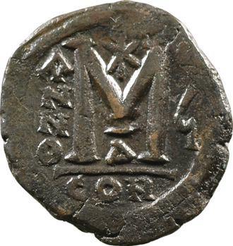 Justin II et Sophie, follis, Constantinople, c.570