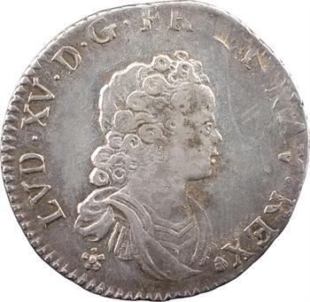 Louis XV, dixième d'écu dit Vertugadin, 1716 Troyes