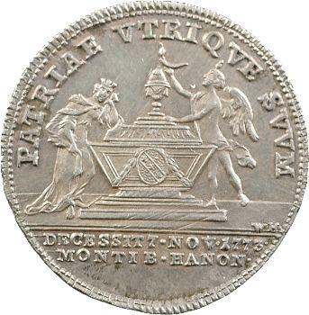 Lorraine (Duché de), décès d'Anne-Charlotte de Lorraine, jeton, 1773