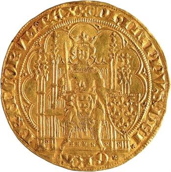 Philippe VI, écu d'or à la chaise, 1re émission
